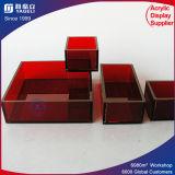 Plateaux acryliques de service de plateau de fruit de qualité de modèle de mode