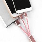 1개의 USB 전화 케이블에 대하여 열쇠 고리 나일론 땋는 2