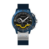 De Horloges van de waterdichte Mensen van de Functie van de Datum van de Dag van het Horloge van de Chronograaf van de Manier van de Riem van het Silicone