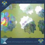 La forme déchiquetée conçoivent l'étiquette en fonction du client d'hologramme