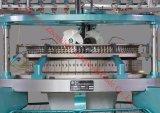 Máquina de confeção de malhas circular do único velo de alta velocidade da linha de Jersey três