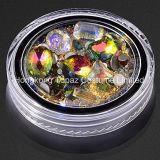 Lookathot 1 caja de cristal 3D Ab Nail Estrás Diamond Iridescent cordones metálicos de oro joyas Joyería de piedras Flatback Nail Art (EN001)