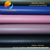 Moda agradável Vestuário de couro sintético PU para sapato com superfície embutida Fpe17m6g