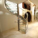 Витая лестница из нержавеющей стали с помощью П Шанель стекло поручень