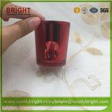 Qualidade superior efeito Electroplate suporte para velas com impressão (H015)