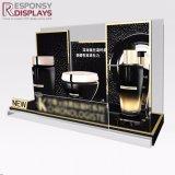 Première crémaillère d'étalage à extrémité élevé acrylique de produit de soin de peau du visage de Tableau