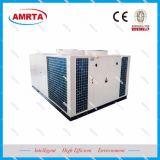 O ar refrigerou o condicionador de ar empacotado do telhado da unidade