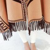 Femmes Mode Viscose Nylon en tricot Hiver Fringed Shawl (YKY4523)