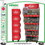 Supermercado Promoción Cesta de la pantalla de apilamiento de malla de alambre