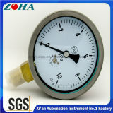 Mètre de mesure de micro pression avec boîtier en acier inoxydable avec prise en laiton
