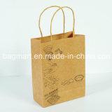 Sacchetto di acquisto riciclato del sacchetto della carta kraft Per i vestiti/abito/regalo
