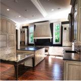 A vaidade de granito preto polido topo decoração para casa de banho