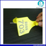 78 * 58mm Laser Printing Gato Ear Tag para Animal Management
