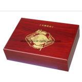Customzied Paulownia Wooden box for Tea with Silk Printing logo