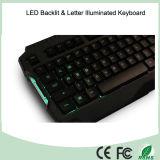 Tastiera Backlit EL calda del gioco di multimedia di vendita di prezzi bassi degli accessori di calcolatore (KB-1901EL-G)