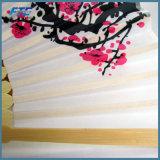 Nervature di seta del Brown del ventilatore della mano del fiore di bellezza che piegano ventilatore