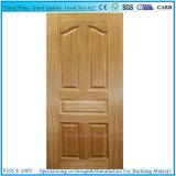 E1/E2 pegamento de madera de teca natural moldeado de la piel de la puerta de chapa HDF