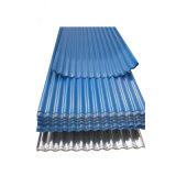 El color de metal corrugado acero recubierto de hoja de techado