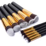 10 argenti di PCS/mescolamento dorato del fondamento delle estetiche dell'insieme di spazzola di trucco arrossiscono insieme dell'estetica dell'ombretto della polvere dello strumento di trucco