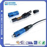 Conector rápido fibra óptica para conexão FTTH