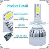 LED 일 빛과 LED 모는 빛 (H1 H3 H4 H7 H8 H9 H11 H13 9012)를 가진 고품질 72W 차 빛 H7 LED 헤드라이트