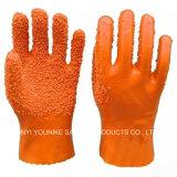 Anti-Slip выровнянная хлопком перчатка PVC