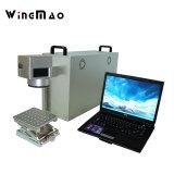 ハト鳥の足のリングのための回転式の10W 20W 30W 50Wのファイバーレーザーのマーキング機械