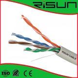 Chaqueta amarilla U / UTP Cat 5e Ethernet por cable LSZH