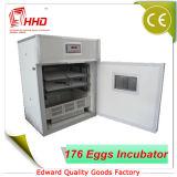 Hhd haut taux d'éclosion multifonction 176 Incubateur d'oeufs de poulet pour la vente