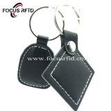 Haute qualité et durable de la télécommande en cuir RFID Tag pour le contrôle des accès avec logo imprimé