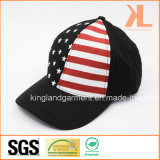 Casquette de baseball 100% de noir d'indicateur américain des Etats-Unis de foret de coton