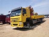 6 guindaste montado caminhão de Sinotruk HOWO 6X4 da tonelada para a venda