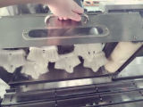 Alta velocidad de embalaje de la ampolla automática de la máquina de la goma de la aguja de plástico de embalaje