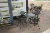 Stapelbarer Aluminiumineinander greifen-Gewebe-im Freienkaffee-Stuhl
