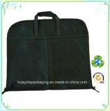 Эко-Custom черным логотипом напечатано не тканый мешок для одежды