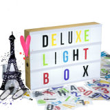 Wooden Frame Cinematic LED Light Box with Letters