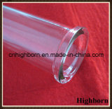 Tube transparent de quartz de silice de Customzied avec la bride par retraits