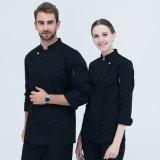 Personnaliser la cuisine de restaurant de chef d'hôtel d'indicateur de broderie de logo faisant cuire l'uniforme