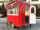 Carrello mobile d'offerta dell'alimento con una finestra alzata di vendite