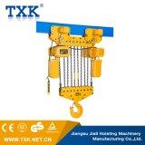 Il gruppo di lavoro di qualità di Txk lavora una gru Chain elettrica resistente da 25 tonnellate