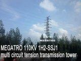 Multi torretta della trasmissione di tensionamento del circuito di Megatro 110kv 1h2-Ssj1