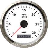 Compte-tours numérique façade blanche 85mm/ Cadre en acier inoxydable Bateau Voiture 0-3000du tachymètre du moteur tr/min pour le gaz de haute qualité