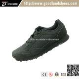 Высокое качество обуви для мужчин велюр черного цвета из натуральной кожи