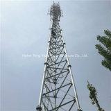 Angle de treillis en acier auto Appuyer Telecom antenne tubulaire tour de télécommunication