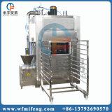 자동 장전식 통제 닭 고기 연기가 나는 기계
