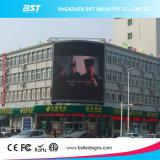 Flexible P8 gebogene LED, die Bildschirm mit Winkel der Betrachtungs-H140/V140 für Einkaufszentrum bekanntmacht