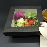 クラフトの腕時計の紙箱使い捨て可能なサラダ寿司のフルーツの昼食の容器
