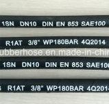 Boyau hydraulique R1/1sn lisse ou de tissu de l'enveloppe une de fil d'acier de tresse