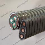 flach elektrisches versenkbares Energien-Kabel der Pumpen-2kv besonders
