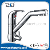 Robinet pur à trois voies de cuisine de l'eau de robinets de mélangeur de bassin de chrome